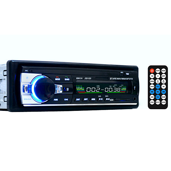 12V Bil BT Stereo FM-radio MP3-afspiller Bil Elektronik Subwoofer Lyd & Billede