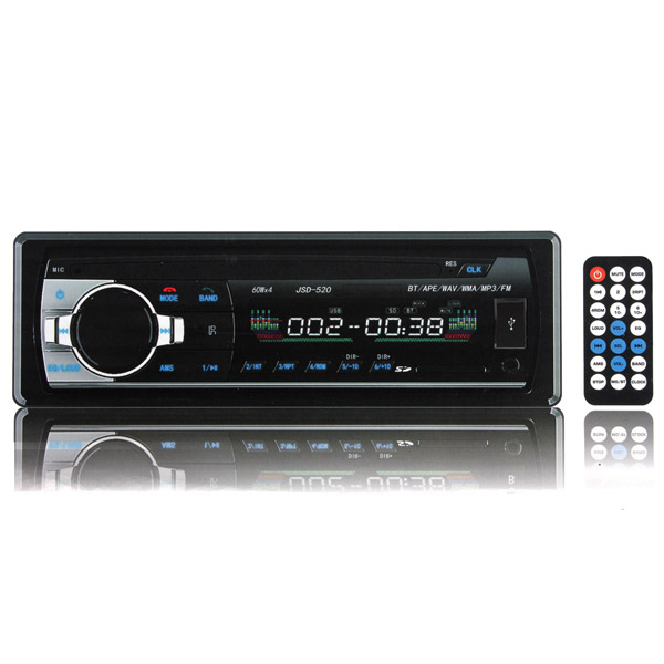 12V Car in Dash BT Stereo Radio Head Unit 1 Din MP3 Player AUX FM Car Audio & Monitor