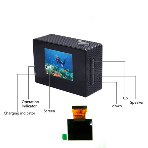 1.5 Inch Screen Replacement Accessory for SJ4000 Sports Camera Car DVRs