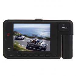 2.7 i Dual Lens Double Channel Bil DVR 609 HD Videokamera DV
