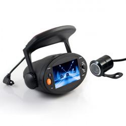 """2.7"""" HD 720P Bil DVR GPS Dual Lens Fordon Kamera Videoinspelning"""