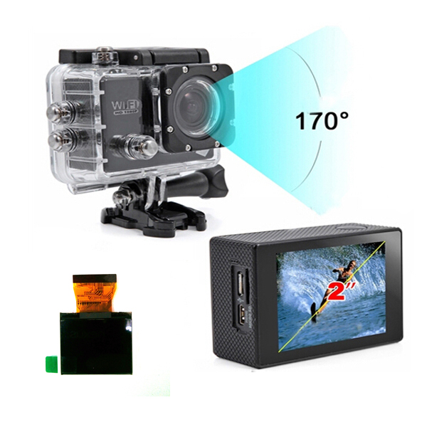 2 Inch Screen Replacement Accessory for SJ6000 Sports Camera Car DVRs