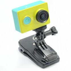 360 Grad Dreh Rucksack Hut Klipp Klemmplatte für Xiaomi Yi Kamera