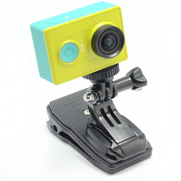 360 Grad Dreh Rucksack Hut Klipp Klemmplatte für Xiaomi Yi Kamera Autokamera DVR