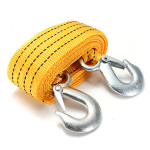 3T 2.8M Tow Towing Pull Rope 2 Heavy Duty Forged Steel Hooks Car Alarm & Security