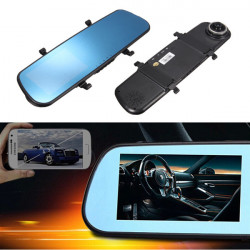 4.3 Inch HD 1080P Dash Cam Video Recorder Rearview Mirror Car Camera DVR