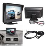 "4.3"" TFT LCD Bil Rear View Monitor + Nattesyn Bakkamera Lyd & Billede"