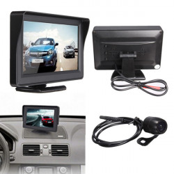 4.3Inch TFT LCD Car Rear View Monitor+Night Vision Reverse Camera