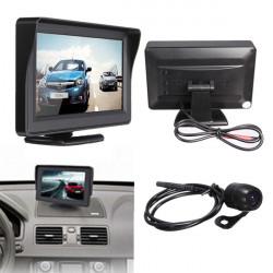 "4.3"" TFT LCD Bil Rear View Monitor + Nattesyn Bakkamera"