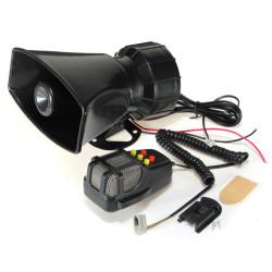 50W 12V 5Sounds Car Van Truck Speaker Loud Siren Horn 105db With MIC