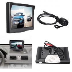 """5"""" TFT LCD Bil Monitor + CMOS Vattentät Mörkerseende Backkamera"""