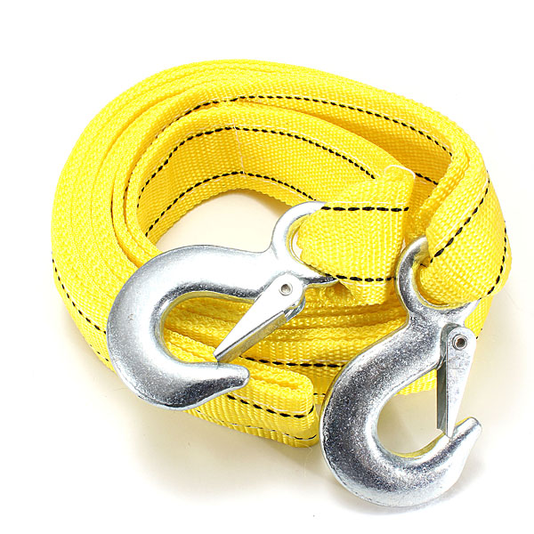 5T 3.64M Tow Towing Pull Rope 2 Heavy Duty Forged Steel Hooks Car Alarm & Security