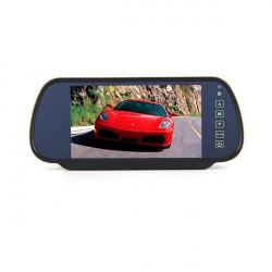 """7"""" Bil LCD-skærm Spejl + Trådløs Bil Ede Bakkamera Kit"""