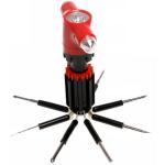 8in1 Car Safety Hammer Flashlight Screwdriver Broken Windows Device Car Alarm & Security