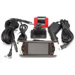 "A11 HD 1080p 2.7"" Dual Lens Fordons DVR Backkamera Svart Box Dash Bilkameror DVR"