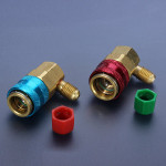 Auto Car High and Low Quick Couplers Connectors Adapters R134A QC-15 Car Alarm & Security
