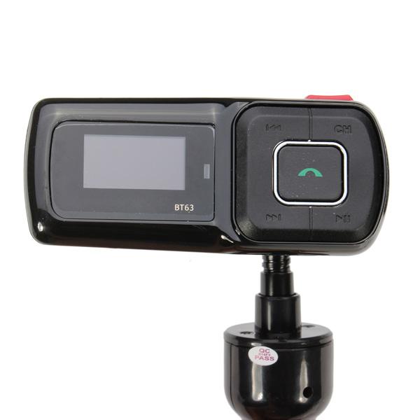 Auto MP3 Player Handsfree Car Kit FM Transmitter Supports TF/USB Car Audio & Monitor