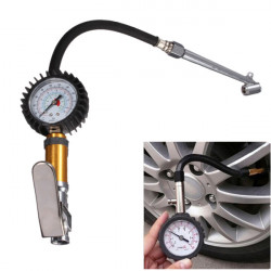 Auto Motorcycle Tire Tyre Inflating Tool Pressure Dial Gauge 220 PSI