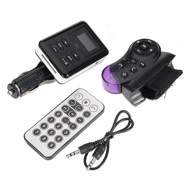 BT Bil KIT FM Transmitter Forlæng MP3 USB / SD / MMC Lyd & Billede