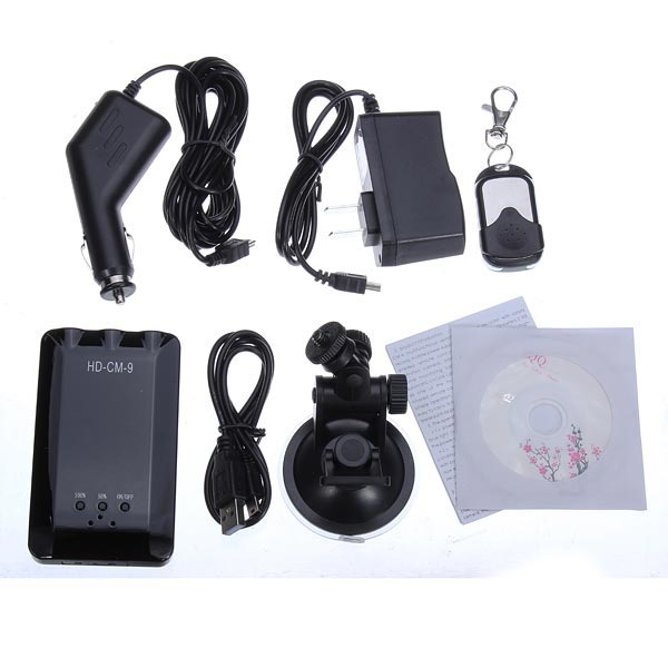 CM-9 Car DVR Recorder Monitor Night Vision Camera Remote Control Car DVRs