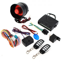 Auto Alarm Security System Keyless Entry Sirene 2 Fernsteuerungs