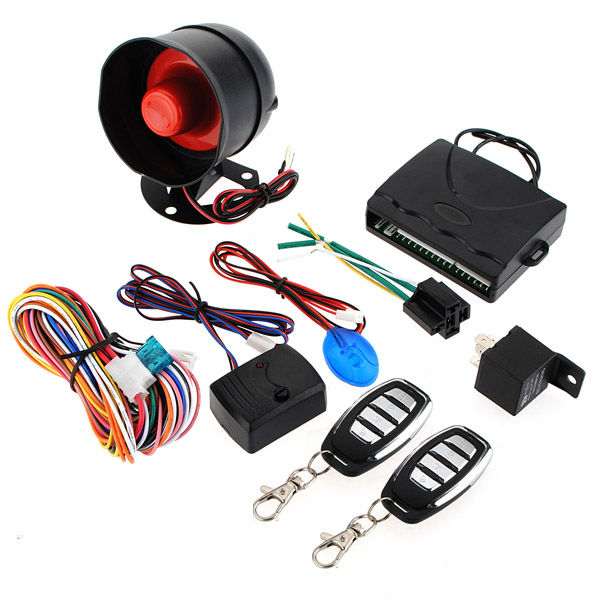 Car Alarm Security System Keyless Entry Siren 2 Remote Control Car Alarm & Security