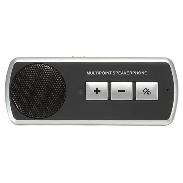 Bil BT Multipoint Højttalertelefon Håndfri med Sun Visor Clip Lyd & Billede