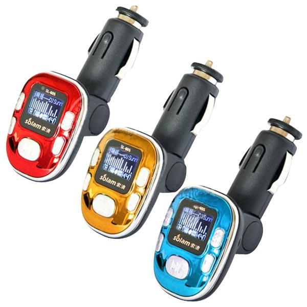 Bil FM Transmitter MP3 Media Player SL-605 12V Cigarettænder 2GB Lyd & Billede