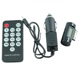 Car FM Transmitter Remote Control for iPad iPhone 3G iPod Stereo