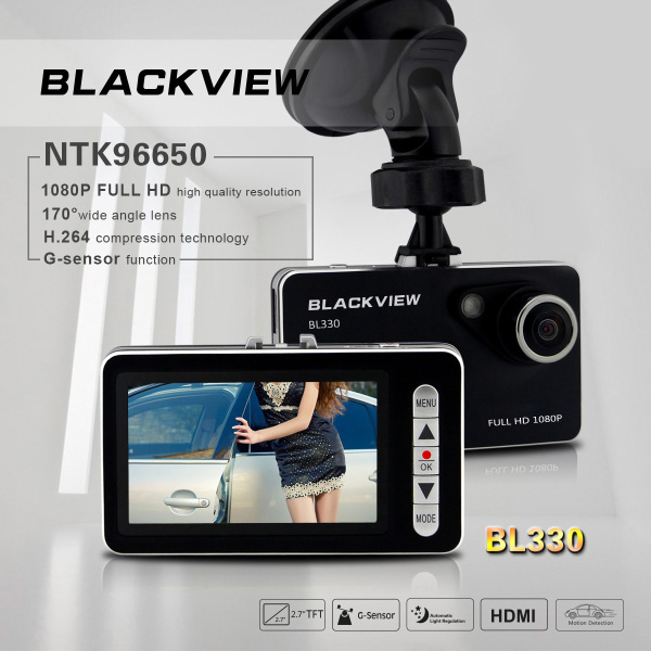 Car HD DVR BL330 Video Recorder 1080P G-sensor 2.7 Inch Screen Car DVRs
