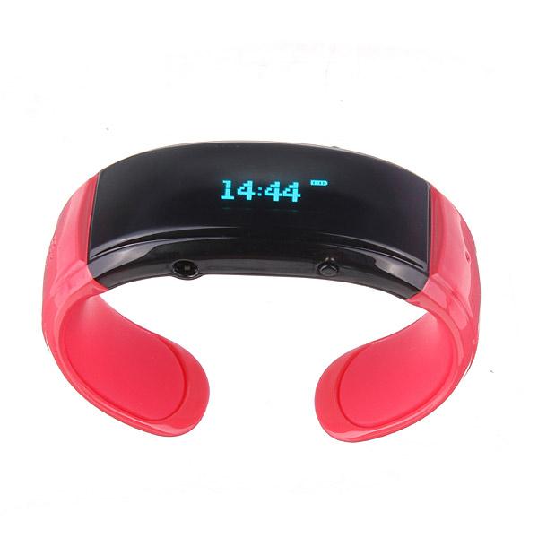 Bil Hjem Vibrating Armbånd Telefonopkald med Ur Bluetooth Lyd & Billede