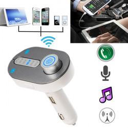 Bil Kit Bluetooth Håndfri FM Transmitter Modulator TF MP3-afspiller