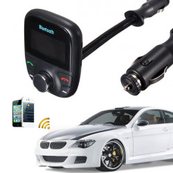 Car Kit Handsfree MP3 Play FM Transmitter LCD Display USB TF