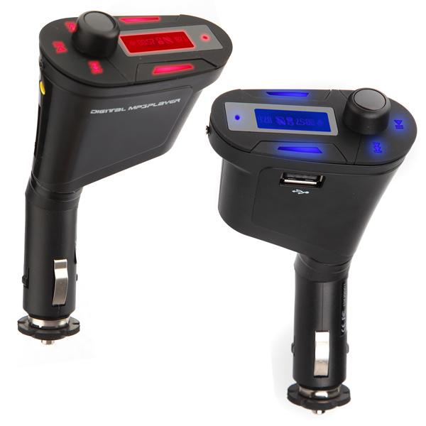 Bil Kit Mp3-Spelare Trådlös FM-sändare Modulator LCD USB SD MMC Ljud & Bild