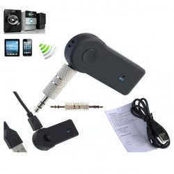 Car Portable A2DP Wireless Audio Music Receiver Adapter with Mic