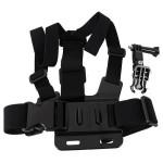 Bröst Body Strap med 3-Vägsjustering Bas för SJ4000 Gopro Bilkameror DVR