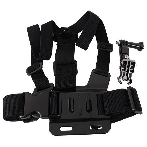 Chest Body Strap with 3-way Adjustment Base for SJ4000 Gopro Car DVRs