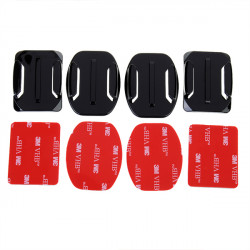 Flat Mounts+Curved Mounts with adhesive pads for SJ4000 Gopro