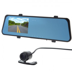 H701 5.0 MP 4.3 Inch TFT 2-Camera CMOS Car Rearview Mirror DVR