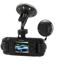 HD 720P 2.0 Zoll Doppellinsen Träger DVR Auto Kamerarecorder Anti Shake