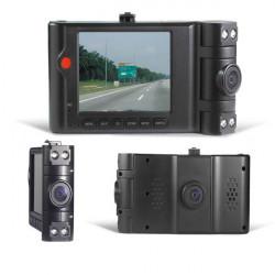 HD Bil DV DVR Kamera 2.7-Tommers LCD Dobbelt-kanal Auto Optager