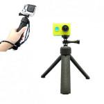 Håndholdt Folding Tripod Monopod til Xiaomi Yi Action Kamera Bilkamera DVR