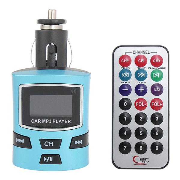 LCD-skærm Bil Kit MP3-afspiller Trådløs FM Transmitter Fjernbetjening Lyd & Billede