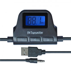 Universal 3,5 mm Kfz Einbausatz LCD Drahtlos Audio FM Transmitter A17