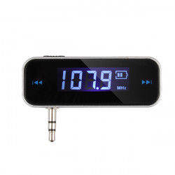 Trådlös 3.5mm Bil Musik Audio FM-sändare för iPod Mobil iPhone