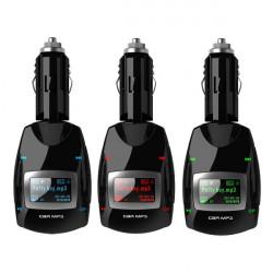 Trådlös FM-sändare USB SD MMC LCD Remote Bil MP3-spelare