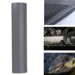 106x28cm Tinting Perforeret Mesh Film Fly-Eye Tint Forlygtepærer Baglygte