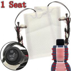 1 Seat Kolfiber Universal Uppvärmd Sätesvärmare Pads Bil Round Switch