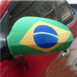 2014 Brazil World Cup Car Mirror Cover The Brazilian Flag Reflection