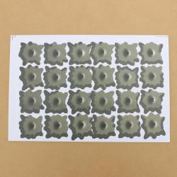 24 Kulhål Klistermärken Bil Shothole Grafisk Dekaler Avtagbara
